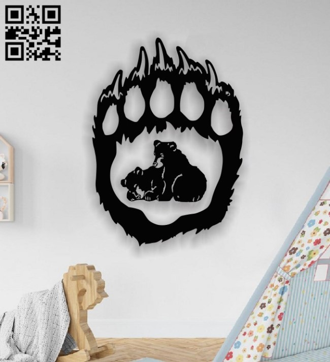 Two bears E001364 file cdr and dxf free vector download for laser cut plasma