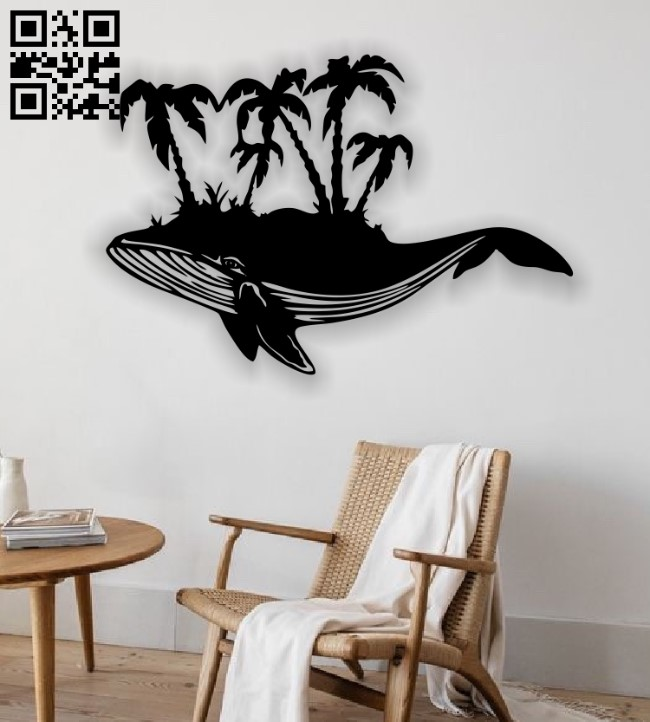 Whale E0013213 file cdr and dxf free vector download for laser cut plasma