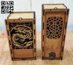 Wine box E0013341 file cdr and dxf free vector download for laser cut