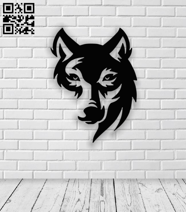 Wolf E0013340 file cdr and dxf free vector download for laser cut plasma