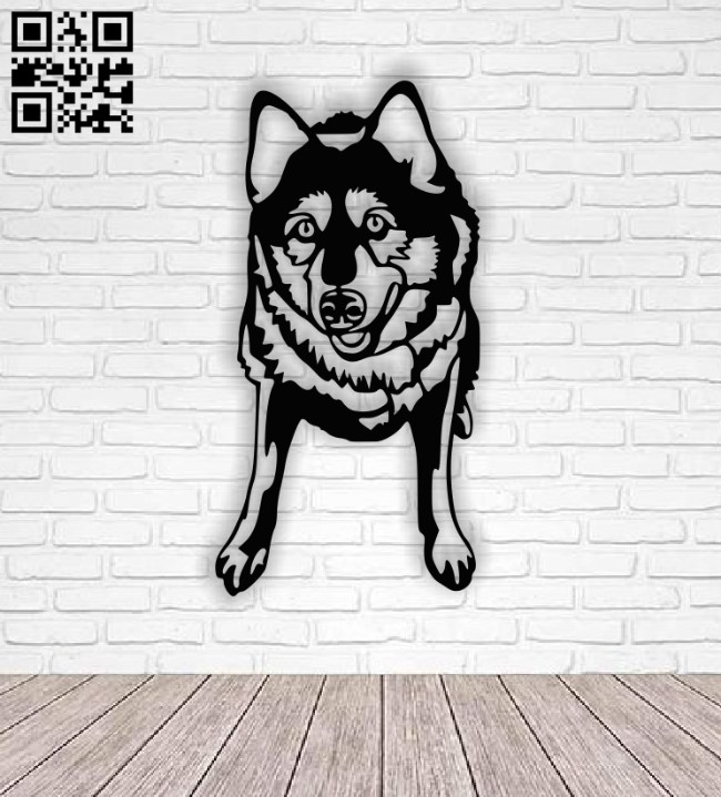 Wolf E0013382 file cdr and dxf free vector download for laser cut plasma