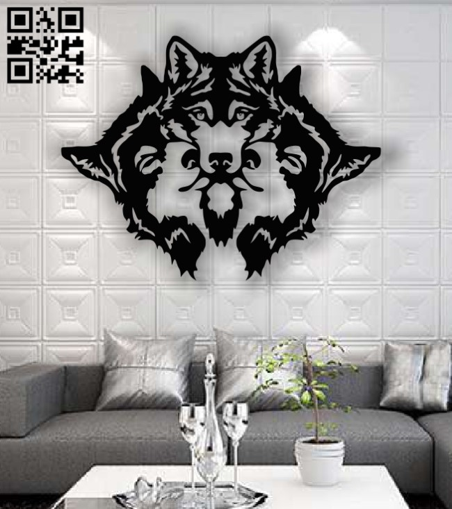 Wolfs E0013390 file cdr and dxf free vector download for laser cut plasma