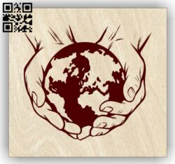 World in hand E0013322 file cdr and dxf free vector download for laser engraving machines