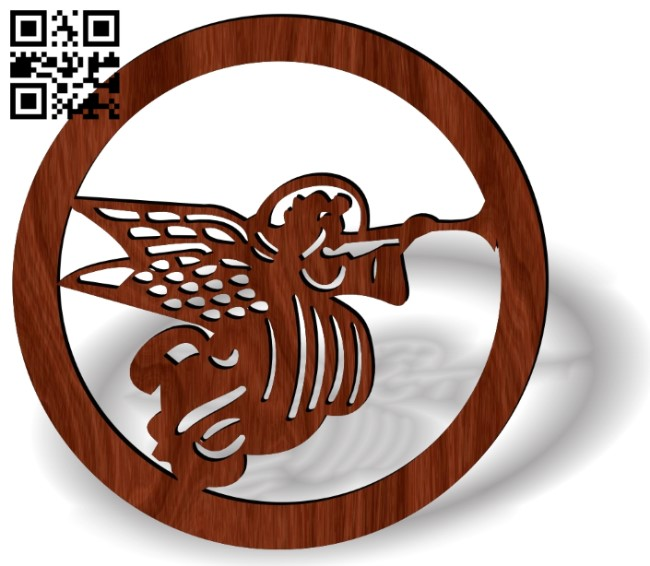 Angel hoop E0013608 file cdr and dxf free vector download for laser cut
