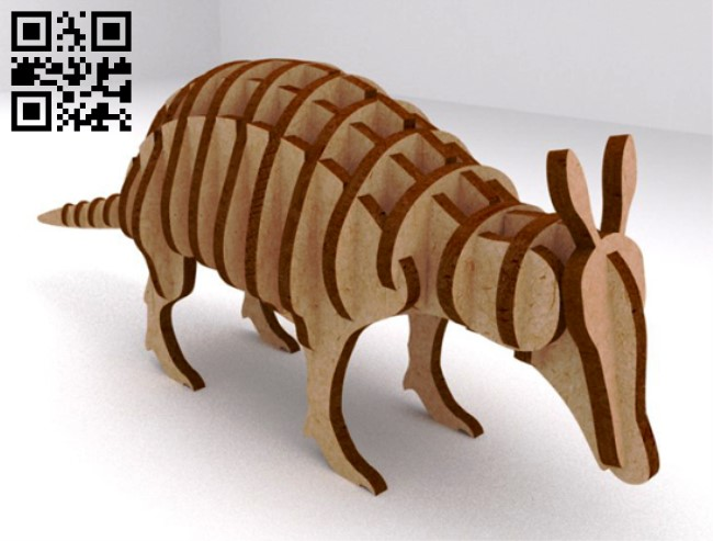 Armadillo E0013555 file cdr and dxf free vector download for laser cut