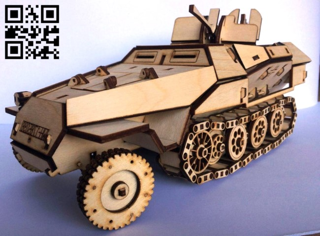 Armored vehicle E0013568 file cdr and dxf free vector download for laser cut