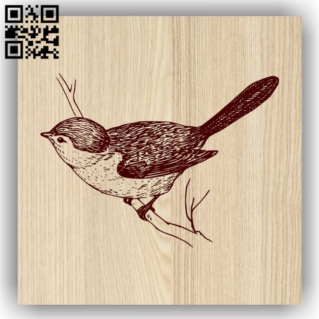 Birds on tree branch E0013720 file cdr and dxf free vector download for laser engraving machine