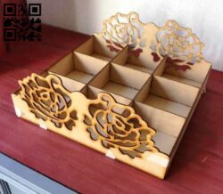 Box E0013540 file cdr and dxf free vector download for laser cut