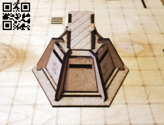 Bunker E0013554 file cdr and dxf free vector download for laser cut