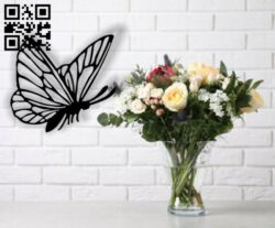 Butterfly E0013670 file cdr and dxf free vector download for cnc cut