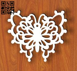 Butterfly E0013708 file cdr and dxf free vector download for laser cut plasma