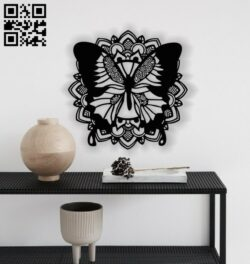 Butterfly mandala E0013614 file cdr and dxf free vector download for laser cut plasma