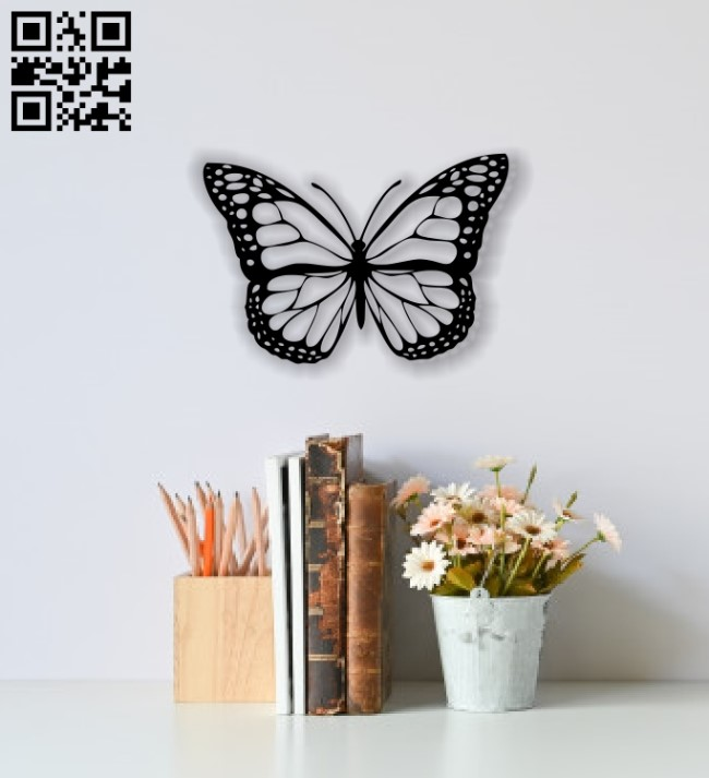 Butterfly wall decor E0013671 file cdr and dxf free vector download for cnc cut plasma