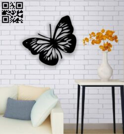 Butterfly wall decor E0013672 file cdr and dxf free vector download for cnc cut plasma