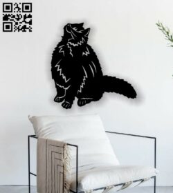 Cat wall decor E0013592 file cdr and dxf free vector download for laser cut plasma