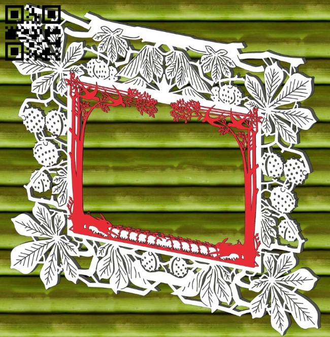Chestnut photo frame E0013643 file cdr and dxf free vector download for laser cut