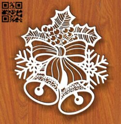 Christmas bell E0013718 file cdr and dxf free vector download for laser cut plasma