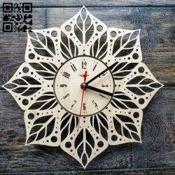 Clock E0013619 file cdr and dxf free vector download for laser cut