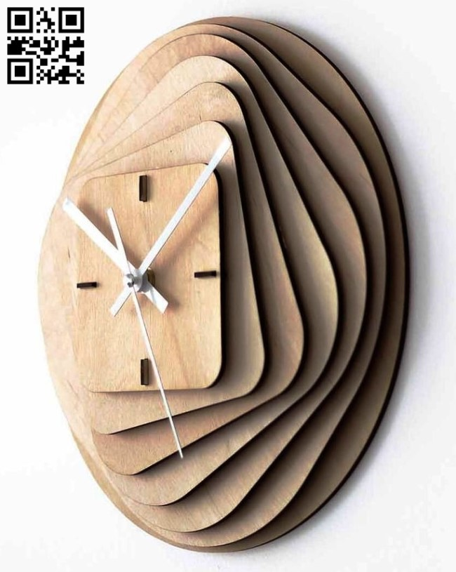 Clock E0013669 file cdr and dxf free vector download for cnc cut