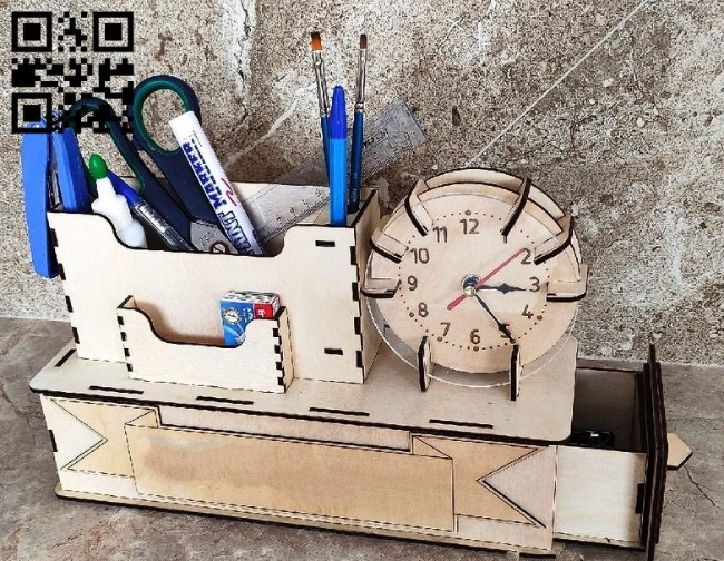 Clock organizer E0013559 file cdr and dxf free vector download for laser cut