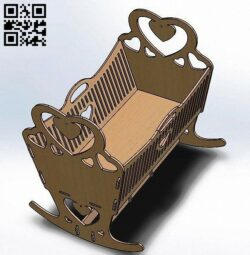 Crib doll bed E0013653 file cdr and dxf free vector download for laser cut