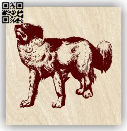 Dog E0013723 file cdr and dxf free vector download for laser engraving machine