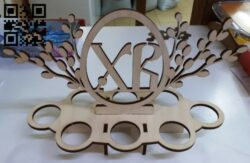 Easter branch E0013606 file cdr and dxf free vector download for laser cut