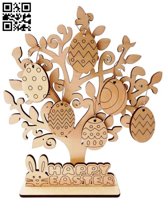 Easter tree E0013685 file cdr and dxf free vector download for cnc cut