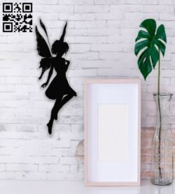 Fairy with butterfly wings E0013675 file cdr and dxf free vector download for cnc cut plasma