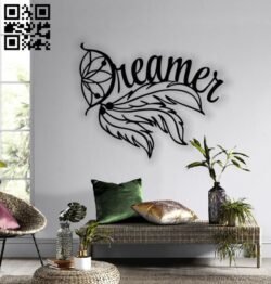 Feather dreamer E0013664 file cdr and dxf free vector download for cnc cut plasma