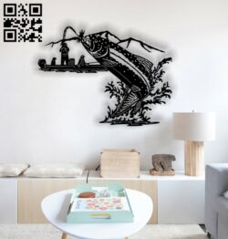 Fishing wall decor E0013532 file cdr and dxf free vector download for laser cut plasma