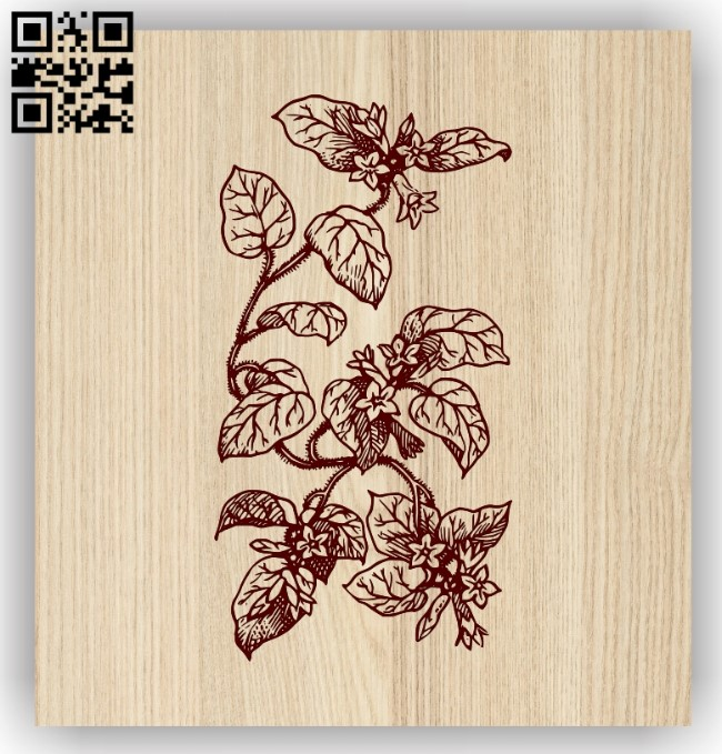 Flower E0013725 file cdr and dxf free vector download for laser engraving machine