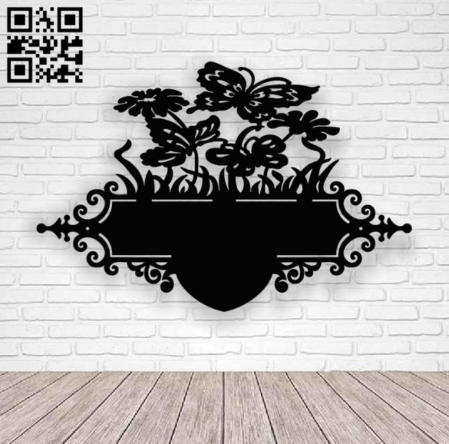 Flower address table E0013714 file cdr and dxf free vector download for laser cut plasma