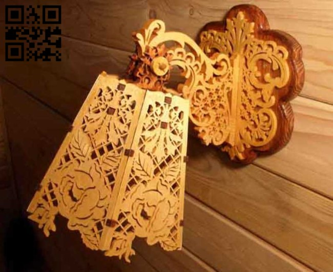 Flower lamp E0013566 file cdr and dxf free vector download for laser cut