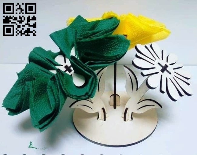 Flower napkin E0013651 file cdr and dxf free vector download for laser cut plasma