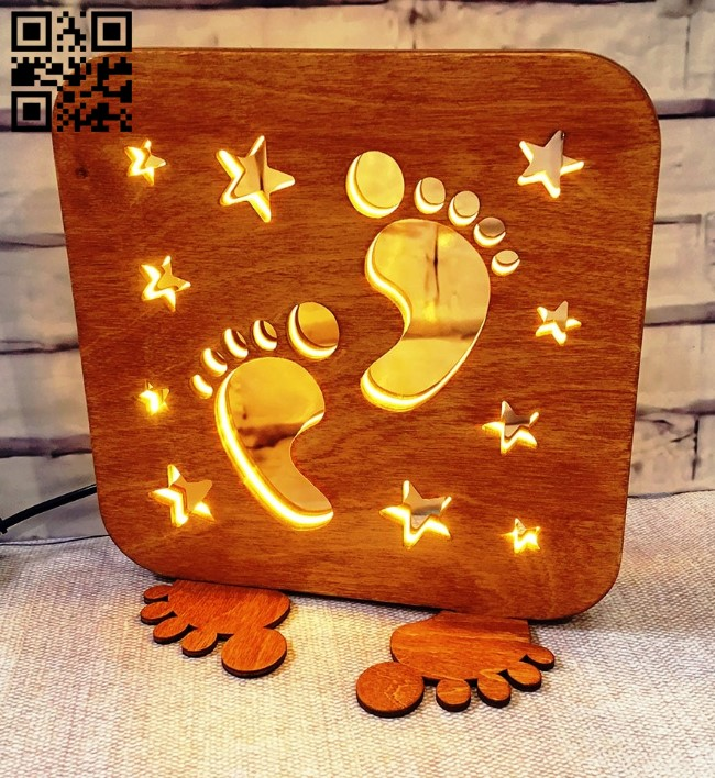 Footprint lamp E0013507 file cdr and dxf free vector download for laser cut