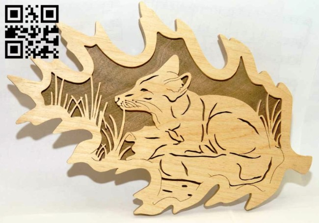 Fox panel E0013620 file cdr and dxf free vector download for laser cut