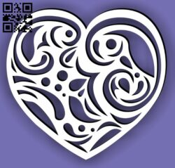Heart E0013541 file cdr and dxf free vector download for laser cut