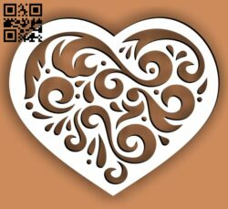 Heart E0013542 file cdr and dxf free vector download for laser cut
