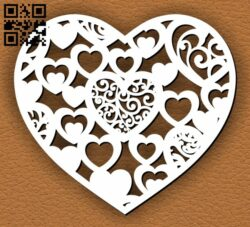 Heart E0013545 file cdr and dxf free vector download for laser cut