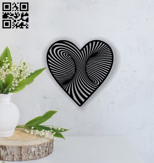 Heart E0013715 file cdr and dxf free vector download for laser cut plasma