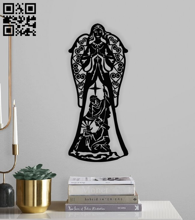 Holy family E0013521 file cdr and dxf free vector download for laser cut plasma
