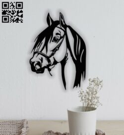 Horse face E0013518 file cdr and dxf free vector download for laser cut plasma