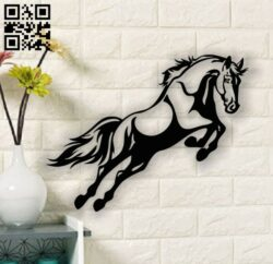 Horse jumping E0013517 file cdr and dxf free vector download for laser cut plasma