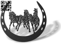 Horseshoe E0013530 file cdr and dxf free vector download for laser cut plasma
