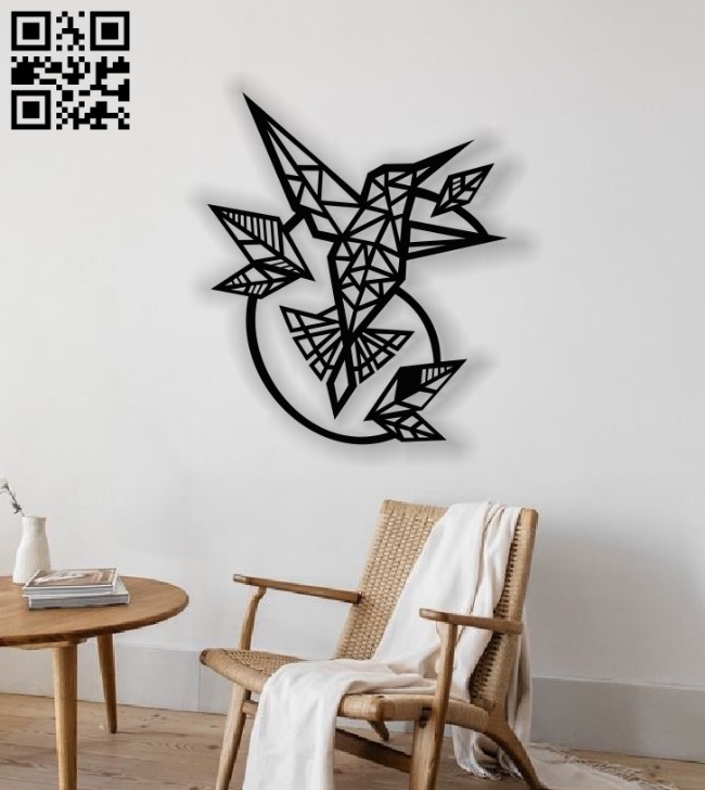 Hummingbirds fly wall decor E0013706 file cdr and dxf free vector download for laser cut plasma