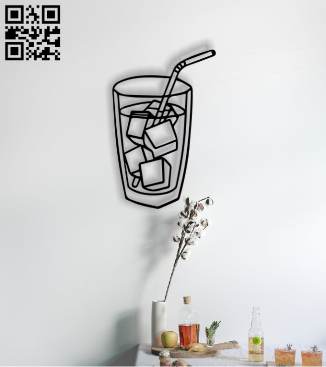 Ice cup E0013659 file cdr and dxf free vector download for cnc cut plasma