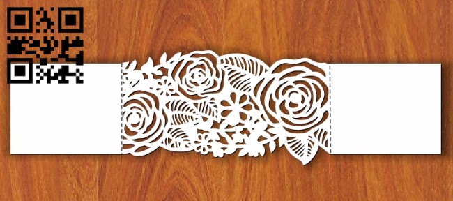 Invitation ribbon E0013522 file cdr and dxf free vector download for laser cut plasma
