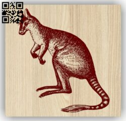 Kangaroo E0013578 file cdr and dxf free vector download for laser engraving machine