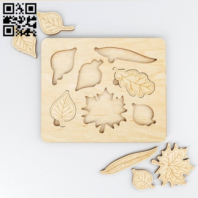 Leaf puzzle E0013516 file cdr and dxf free vector download for laser cut